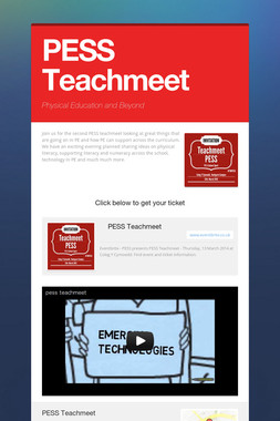 PESS Teachmeet