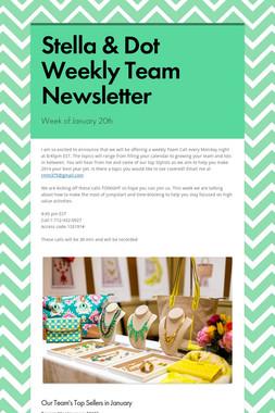 Stella & Dot Weekly Team Newsletter