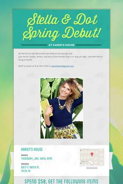 Stella & Dot Spring Debut!
