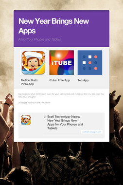 New Year Brings New Apps
