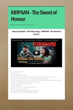 KIRPAAN - The Sword of Honour