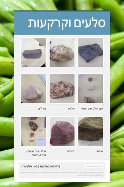 סלעים וקרקעות