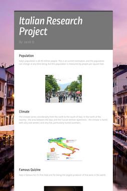 Italian Research Project
