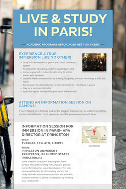 LIVE & STUDY IN PARIS!