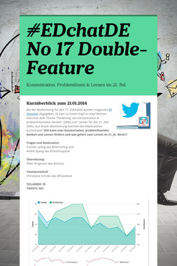 #EDchatDE No 17 Double-Feature