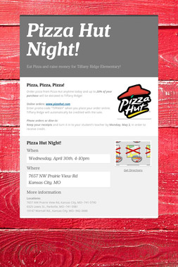 Pizza Hut Night!