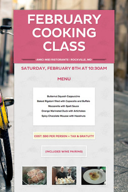 February Cooking Class