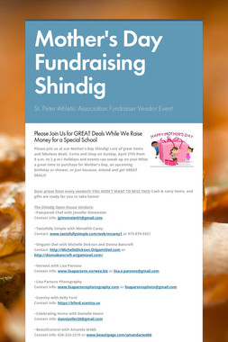 Mother's Day Fundraising Shindig