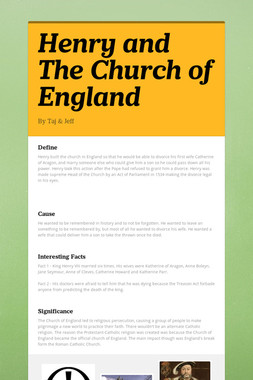 Henry and The Church of England