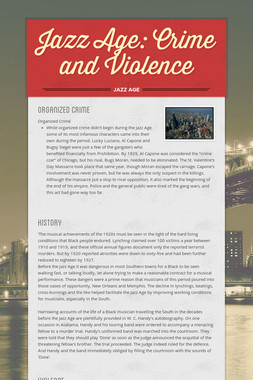 Jazz Age: Crime and Violence