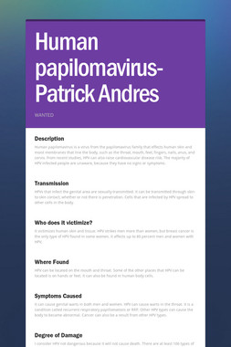 Human papilomavirus- Patrick Andres