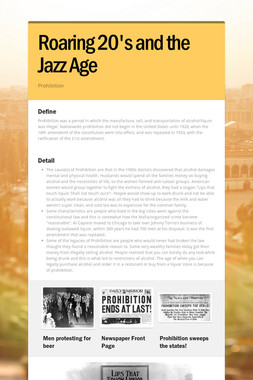 Roaring 20's and the Jazz Age
