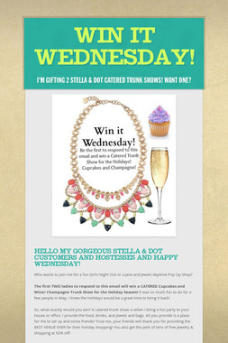 WIN IT WEDNESDAY!