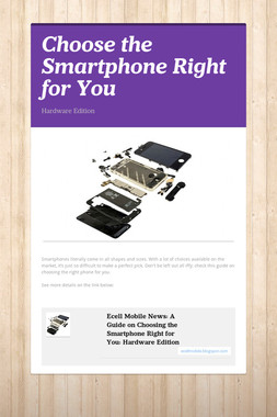 Choose the Smartphone Right for You