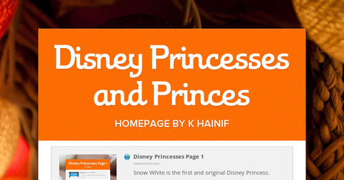 Disney Princesses and Princes
