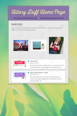 Hilary Duff Home Page