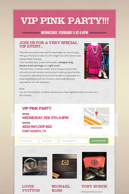 VIP Pink Party!!!