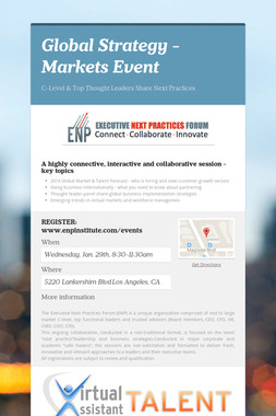 Global Strategy - Markets Event