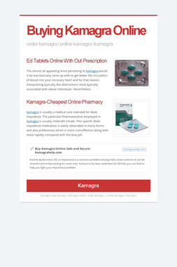 Buying Kamagra Online