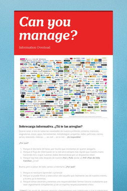 Can you manage?