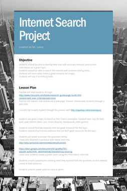 Internet Search Project