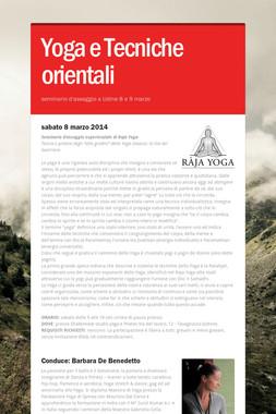 Yoga e Tecniche orientali