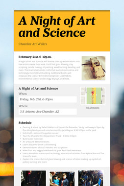 A Night of Art and Science