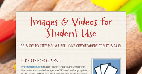 Images for Student Projects