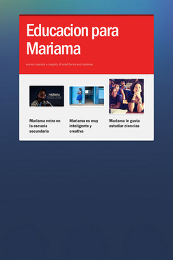 Educacion para Mariama