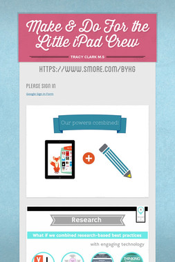 Make & Do For the Little iPad Crew