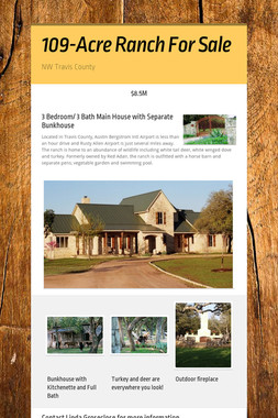 109-Acre Ranch For Sale