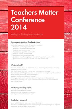 Teachers Matter Conference 2014