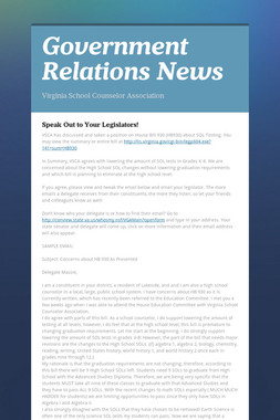 Government Relations News