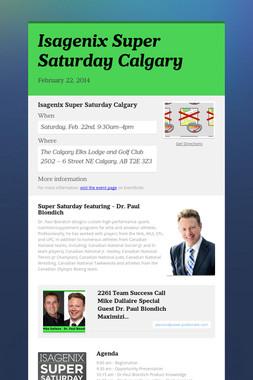 Isagenix Super Saturday Calgary