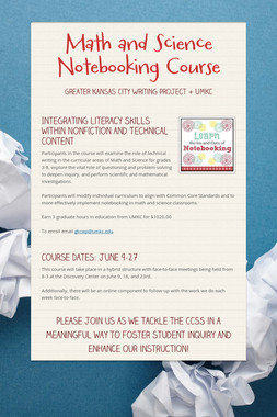 Math and Science Notebooking Course