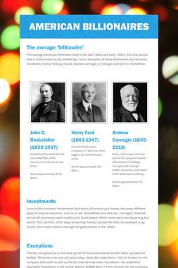 American Billionaires