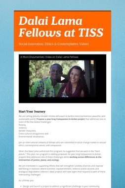Dalai Lama Fellows at TISS