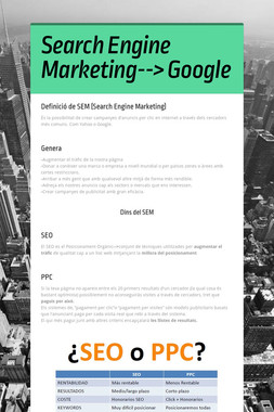 Search Engine Marketing--> Google