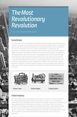 The Most Revolutionary Revolution