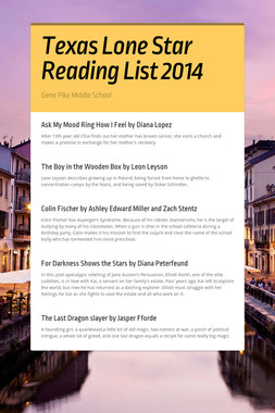 Texas Lone Star Reading List 2014