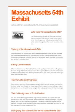 Massachusetts 54th Exhibit