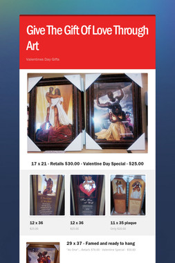 Give The Gift Of Love Through Art