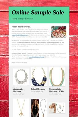Online Sample Sale