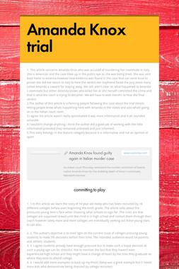 Amanda Knox trial