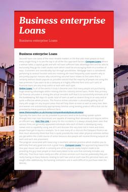 Business enterprise Loans