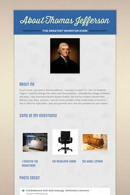About Thomas Jefferson