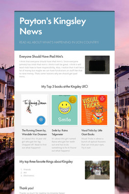 Payton's  Kingsley News