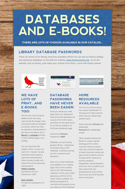 Databases and E-Books!