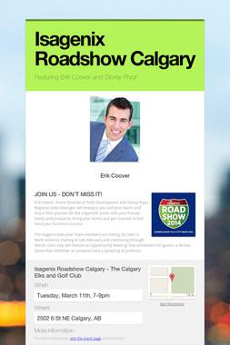 Isagenix Roadshow Calgary