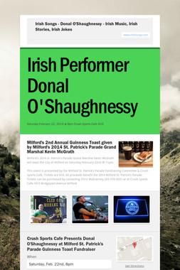 Irish Songs - Donal O'Shaughnessy - Irish Music, Irish Stories, Irish Jokes